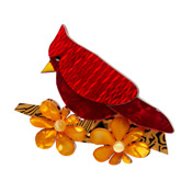 Ruby The Red Cardinal Brooch By Erstwilder