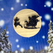 Santa Moon Brooch By Tantalising Treasures - Last one!
