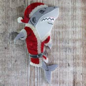 Santa Jaws Brooch By Gory Dorky - SOLD OUT