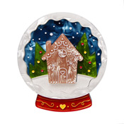 Season's Greetings Snowglobe Brooch By Erstwilder