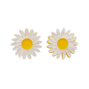 She Loves Me Daisy Earrings By Erstwilder