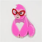 Short Sighted Sophie Gorilla Brooch By Erstwilder