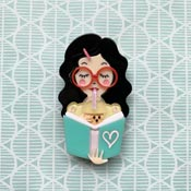 Simple Joy Brooch With Black Hair By She Loves Blooms