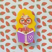 Simple Joy Brooch With Blonde Hair By She Loves Blooms