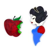 Snow White And The Poison Apple Brooch Set By Tantalising Treasures