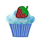 Strawberry On Top Cupcake Brooch By Tantalising Treasures