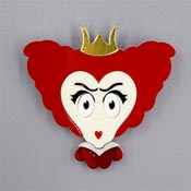 Red Queen Brooch By Tantalising Treasures