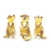 Three's A Manner Meerkat Brooch Set By Erstwilder