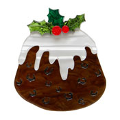 Treacle Treat Christmas Pudding Brooch By Erstwilder