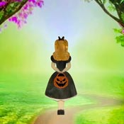 Halloween Trick Or Treat Alice Brooch By Tantalising Treasures - Coming Soon!
