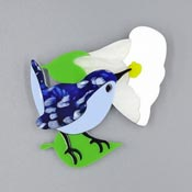 Bluebird Of Happiness Brooch By Tantalising Treasures