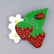 Fresh Strawberries Brooch By Tantalising Treasures
