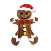 Gingerbread Man Pin By Tantalising Treasures - Last one!