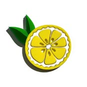 Lemon Slice Brooch By Tantalising Treasures