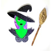 Wicked Witch Brooch Set By Tantalising Treasures