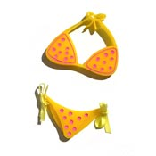Yellow Polka Dot Bikini Brooch Set By Tantalising Treasures