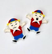 Tweedles V2.0 Brooch Set By Tantalising Treasures