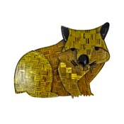 Wary Warri Wombat Brooch By Erstwilder-Second Owner