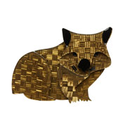 Wary Warri Wombat Brooch By Erstwilder