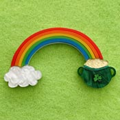Pot Of Gold Rainbow Brooch By Wintersheart