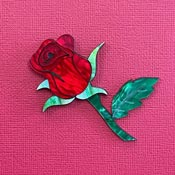 Red Rose Brooch By Wintersheart