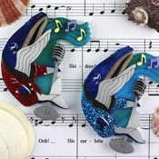Whale Song Brooch By Gory Dorky
