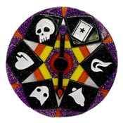 Wheel Of Fortune Halloween Spinner Brooch By Lipstick & Chrome
