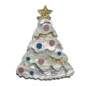 White Christmas Tree Pin By Tantalising Treasures