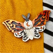 Lunar Moth Brooch By Wildworth Design Co. - SOLD OUT