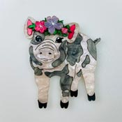Pretty Pig Brooch By Wildworth Design Co.
