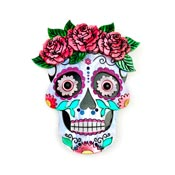 Sugar Skull Brooch By Wildworth Design Co.