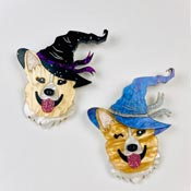 Witchy Corgi Brooches By Wildworth Design Co.