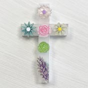 Easter Cross Brooch By Wintersheart - Last one!