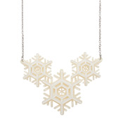 Winter Wonderland Snowflake Necklace By Erstwilder