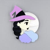Witchy Poo Witch Brooch By Tantalising Treasures