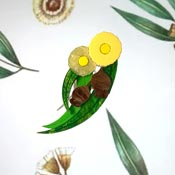 Yellow Gumtree Blossom Brooch By Tantalising Treasures