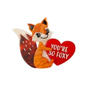 You're So Foxy Fox Brooch By Erstwilder