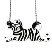 Zebra Crossing Necklace By Erstwilder