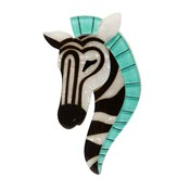 Zelda The Zany Zebra Brooch By Erstwilder Fan Favorite 2019 Imperfect
