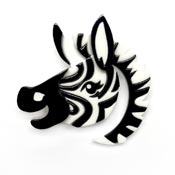 Zesty Zebra Brooch By Erstwilder