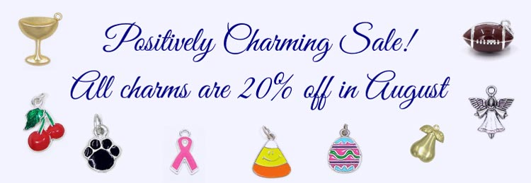 Save 20% on all charms in August!