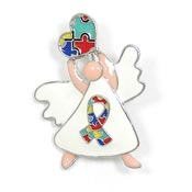 Autism Guardian Angel Pin