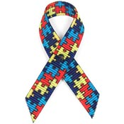 Autism Grosgrain Awareness Ribbon Pin