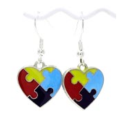 Autism Heart Earrings