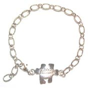 Adjustable Autism Puzzle Piece Bracelet