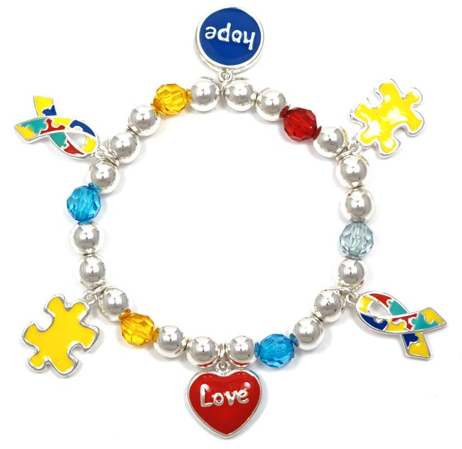 Hope And Love Colorful Charm Bracelet