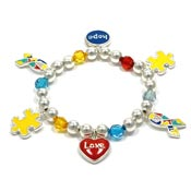 Autism Hope And Love Colorful Charm Bracelet