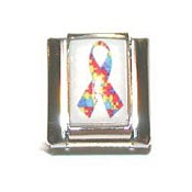 Autism Awareness Ribbon Italian Charm