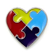Priced Right Autism Heart Pin