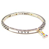 Hope Faith Love Stackable Autism  Bracelet